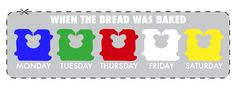 Breaking the Bread Code: How to Get the Freshest Loaf - here's a quick color key that you can keep on you, if you so desire: