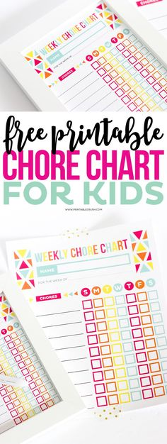 FREE Printable Chore Chart for Kids to keep track of the chores your children are completing throughout the week. It will help them learn to be responsible and you can reward them for their behavior. Weekly Chore Charts, Free Printable Chore Charts, Weekly Chores, Chore Chart Kids, Free Printables, Kids Charts, Reward Charts For Kids, Kids Chore List, Chore Chart Teenagers