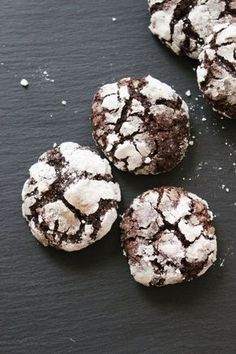 Gluten and dairy free chocolate crinkle cookies