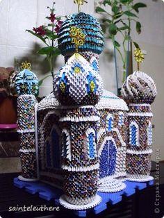 Поделка изделие Оригами китайское модульное Кафедрал Бумага фото 2