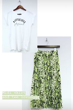 Outfit inspiration for your slogan tee and midi skirt. Little Less Judgement tee from Mama Life London. Pleated Skirt, Midi Skirt, Slogan Tee, Law, Women Wear, London, Stylish, Tees, Outfit