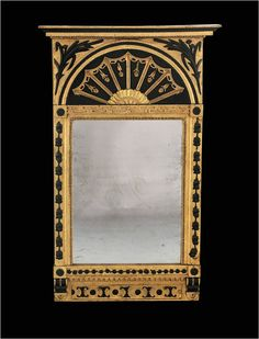 GROSSER ELEGANTER SPIEGEL EMPIRE RUSSLAND 1815 136 cm Biedermeier Wandspiegel