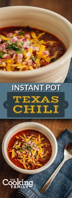 A delicious Texas Chili made with real ingredients from your pantry. Make it with beans or without! The Instant Pot can cook in 30 minutes with dried beans!