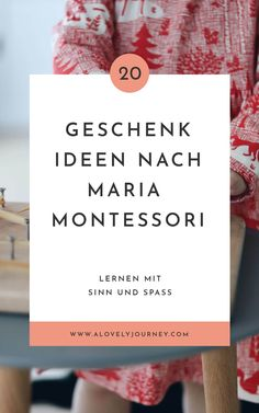 Gift ideas based on Maria Montessori: 20 useful gifts .- 20 simply good gift ideas according to Maria Montessori for children from Maria Montessori, Montessori Baby, Montessori Trays, Diy Gifts For Dad, Presents For Girls, Diy Gifts For Friends, Aunt Gifts, Gifts For Girls, Co Working