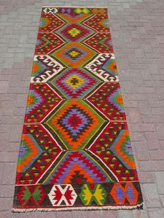 "Anatolian Turkish Aydın Kilim Rug Runner Carpet 121"" x 34"" | eBay"