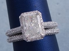 2.50 CTW RADIANT CUT DIAMOND WEDDING RING SET (Includes a Matching Wedding Ring)