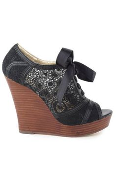 Harmony Wedge in Black. This is a beautiful shoe and I want ❤