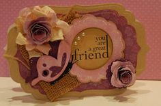 Butterfly & scalloped circle frame from Live Simply
