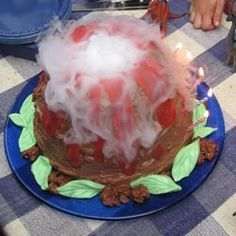 How To Make An Edible Erupting Volcano Volcano Cake