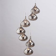 cascading cluster pendant changable height possition ceiling hallway lighting