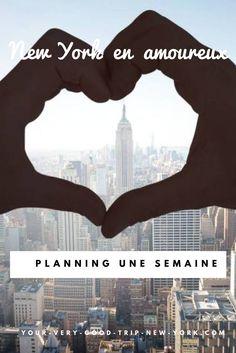 Si vous partez à New York pour la première fois, un planning vous sera très utile. Voici un planning d'une semaine, spécialement concocté pour un séjour entre amoureux !