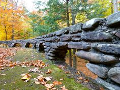 Some of the beautiful original CCC stonework near the Octagon Shelter. Photo courtesy Nina M. Letchworth State Park, Garden Bridge, Conservation, State Parks, 19th Century, Grand Canyon, Shelter, Beautiful Places, Outdoor Structures