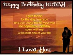 Happy birthday Hubby