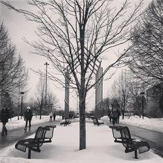 On campus symmetry by Instagram fan @joytapose. #gvsu