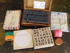 Stamping away! #Crafts #LetterStamps #AlphabetStamps #CraftPh #CaboodleBox