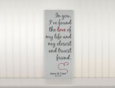 Personalized Wedding Gift for Couples or Wedding by CRSWoodDesigns, $65.00