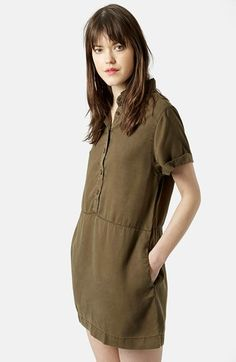 Topshop+Casual+Shirtdress+(Petite)+available+at+#Nordstrom