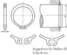 Sicherungsringe A (für Wellen)|DIN 471 Werkstoff:Federstahl rostfrei* Wellen-Ø d1:32mm s:1,50mm: Amazon.de: Baumarkt