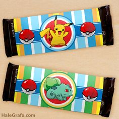 FREE printable Pokemon candy bar wrappers at HaleGrafx