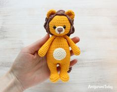 Cuddle Me Lion amigurumi pattern