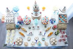 Top-view of dessert table from a Pow Wow Birthday Party on Kara's Party Ideas   KarasPartyIdeas.com (7)