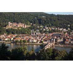 Blick auf die Altstadt von Heidelberg mit Schloss und alte Brücke, tolles Fototapeten-Motiv von Heidelberg, Merian, Fotograf: A. F. Selbach