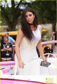 Kim Kardashian & Family Take Eye-Opening Trip to Cuba: Photo #3648951. Kim Kardashian climbs into a pink convertible to ride through the streets with her family on Wednesday (May 4) in Havana, Cuba. The 35-year-old reality star…