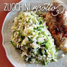 Zucchini Risotto... Veggies and risotto? How could this be bad?