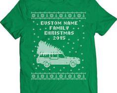 Funny Custom Name Family Christmas Ugly Christmas Sweater Griswold Family Christmas Tshirt Gift T-shirt Tee Shirt Christmas Star Wars Mens