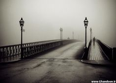 Old Black and White Photography | black,and,white,bridge,fog,architecture, brodge,photography ...