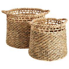 Set of 2 Water Hyacinth Storage Baskets Water Hyacinth, Storage Baskets, Wicker Baskets, House, Bags, Home Decor, Baskets, Handbags, Decoration Home