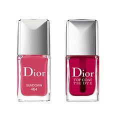 Beauté : Notre sélection shopping de maquillage pop coloré pastel colorblock de l'été vernis + top coat Dior, tie Dye http://www.vogue.fr/beaute/shopping/diaporama/make-up-pop/20890
