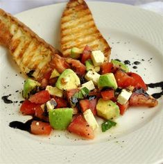 Tomato Avacado and Feta Crostini - must try this for lunch one day