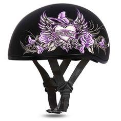 Half Helmets, Biker Leather, Leather Fringe, Helmet Brands, Heart Graphics, Womens Motorcycle Helmets, Concealed Carry Women, Girls Winter Hats