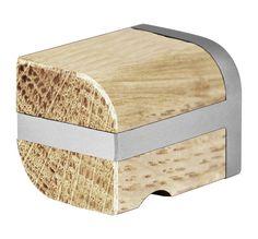 Pomello per mobili in acciaio inox e legno Serie TWO by FORMANI® | design Piet Boon