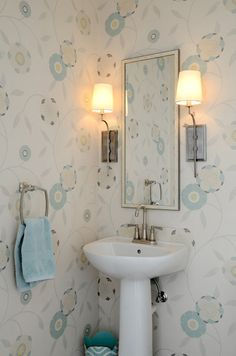 House of Turquoise: Nancy Twomey + Jamie Salomon   powder bathroom