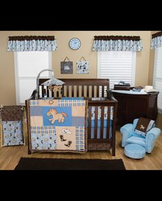 Cowboy Baby Crib Bedding Set - 4 Piece Set
