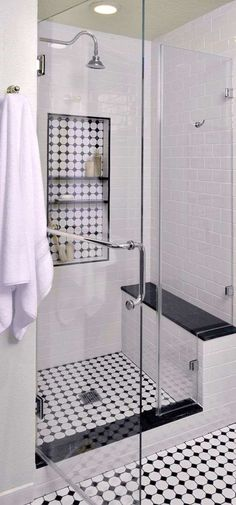 Shower Design Subway Tile And Marble Niche
