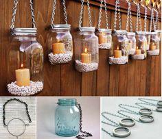 En este post os enseñamos una forma sencilla de reciclar tarros de cristal para crear originales lámparas de exterior con las que alumbrar nuestro jardín.
