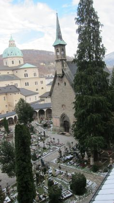 The St Peter's Cemetery as viewed from the catacombs in Salzburg #feelaustria