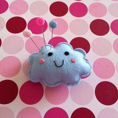 Kawaii Happy Cloud Felt Pincushion or Plushie -... - Folksy