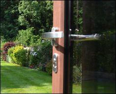 An eight point locking system keeps the doors safe from intruders.
