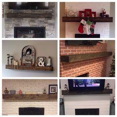Rustic Wood Fireplace Mantel Shelf Distressed Farmhouse   Etsy Floating Fireplace, Farmhouse Fireplace Mantels, Wood Fireplace Mantel, Wood Mantels, Fireplace Remodel, Fireplaces, Wood Mantel Shelf, Rustic Wood, Beams