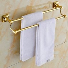 Sprinkle Wall Mount Lavatory Towel Racks Bath Shower Accessories Goldplated Brass Bathroom Towel Rack Golden Towel Bars and Holders Gold Luxury Free Standing Towel Bars ** For more information, visit image link. Note:It is Affiliate Link to Amazon.