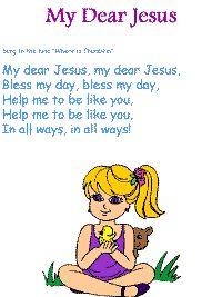 My Dear Jesus printable song templates for kids Sunday School Songs, Kids Sunday School Lessons, Bible Lessons For Kids, Bible For Kids, Jesus Songs For Kids, Scriptures For Kids, Kids Songs, Baby Songs, Preschool Bible Activities