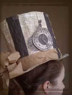 Make a top hat from an old book.