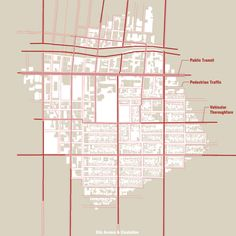 Tri-Triptych - Figure Ground Circulation Map. Architecture Graphic Design. http://www.mrlnh.com/graphics.html