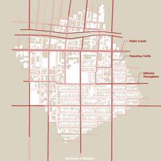 Tri-Triptych - Figure Ground Circulation Map. Architecture Graphic Design. http://www.mrlnh.com/graphics.html