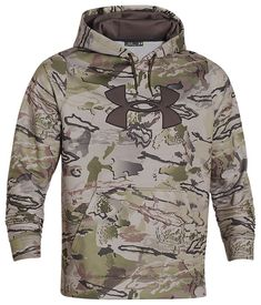 Under Armour ColdGear Big Logo Camo Hoodie for Men   Bass Pro Shops: The Best Hunting, Fishing, Camping & Outdoor Gear