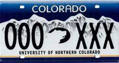 University of Northern Colorado License Plate